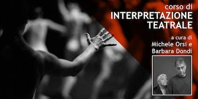 Seminario: Interpretazione Teatrale