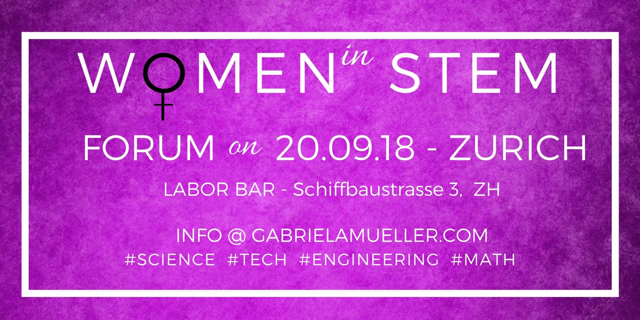 STEM WOMEN FORUM 2018 - Disruptive Empowering Experience. Don't miss it!