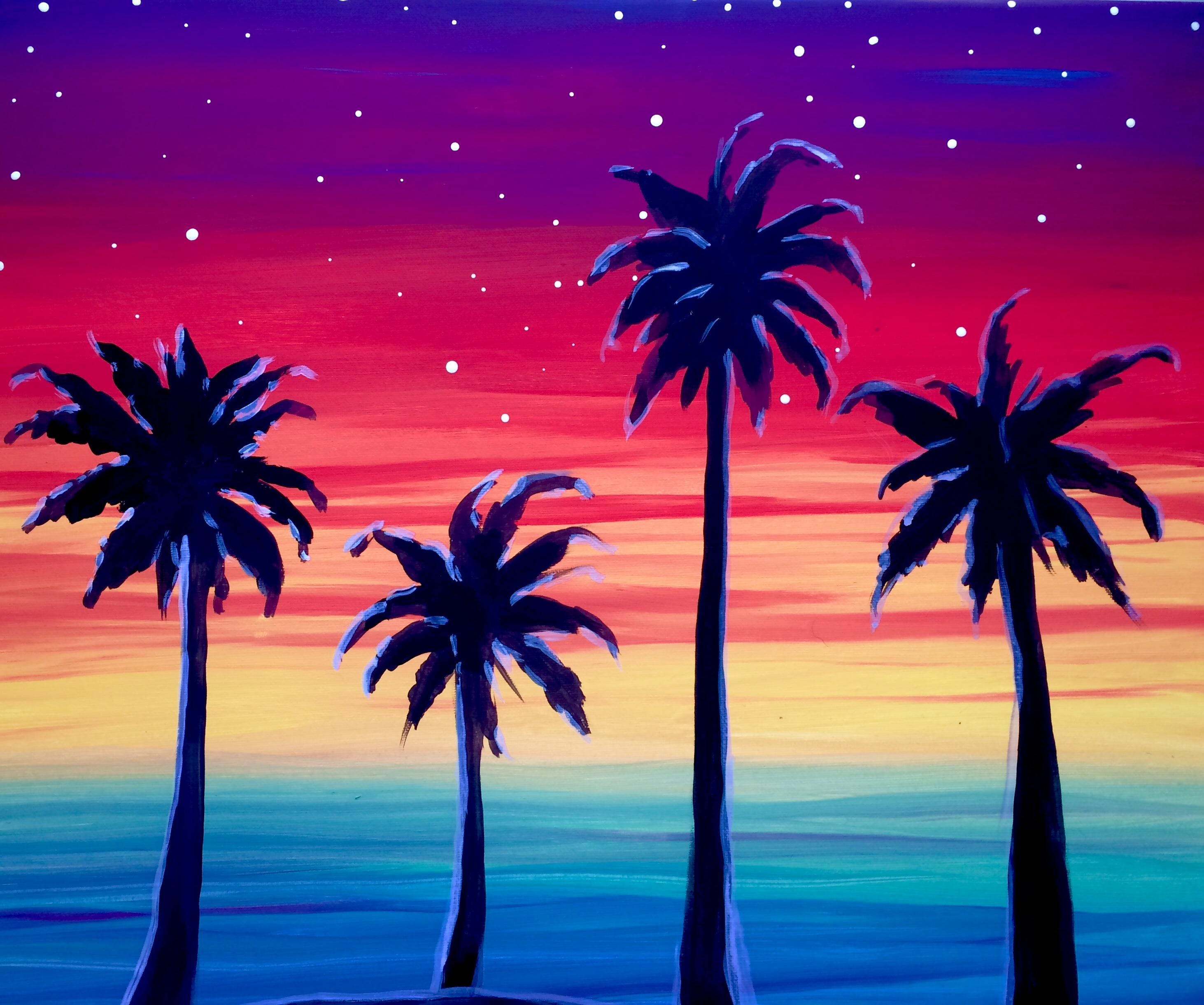 Paint with Jamie-Palm Trees in Paradise