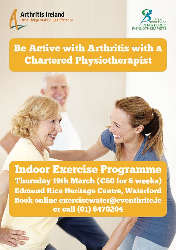 'Be active with arthritis' Physiotherapist led exercise programme, Barna, Co. Galway