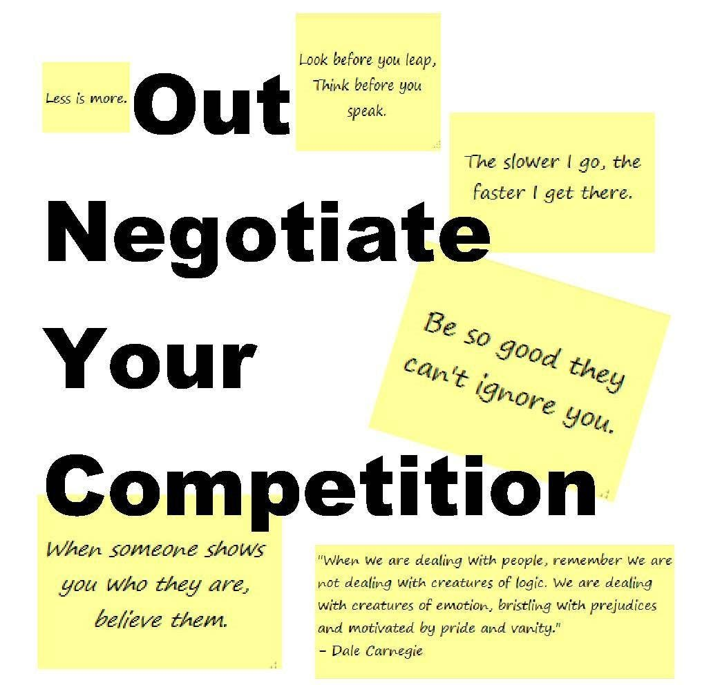 Out Negotiate Your Competition (3 CE HRS)