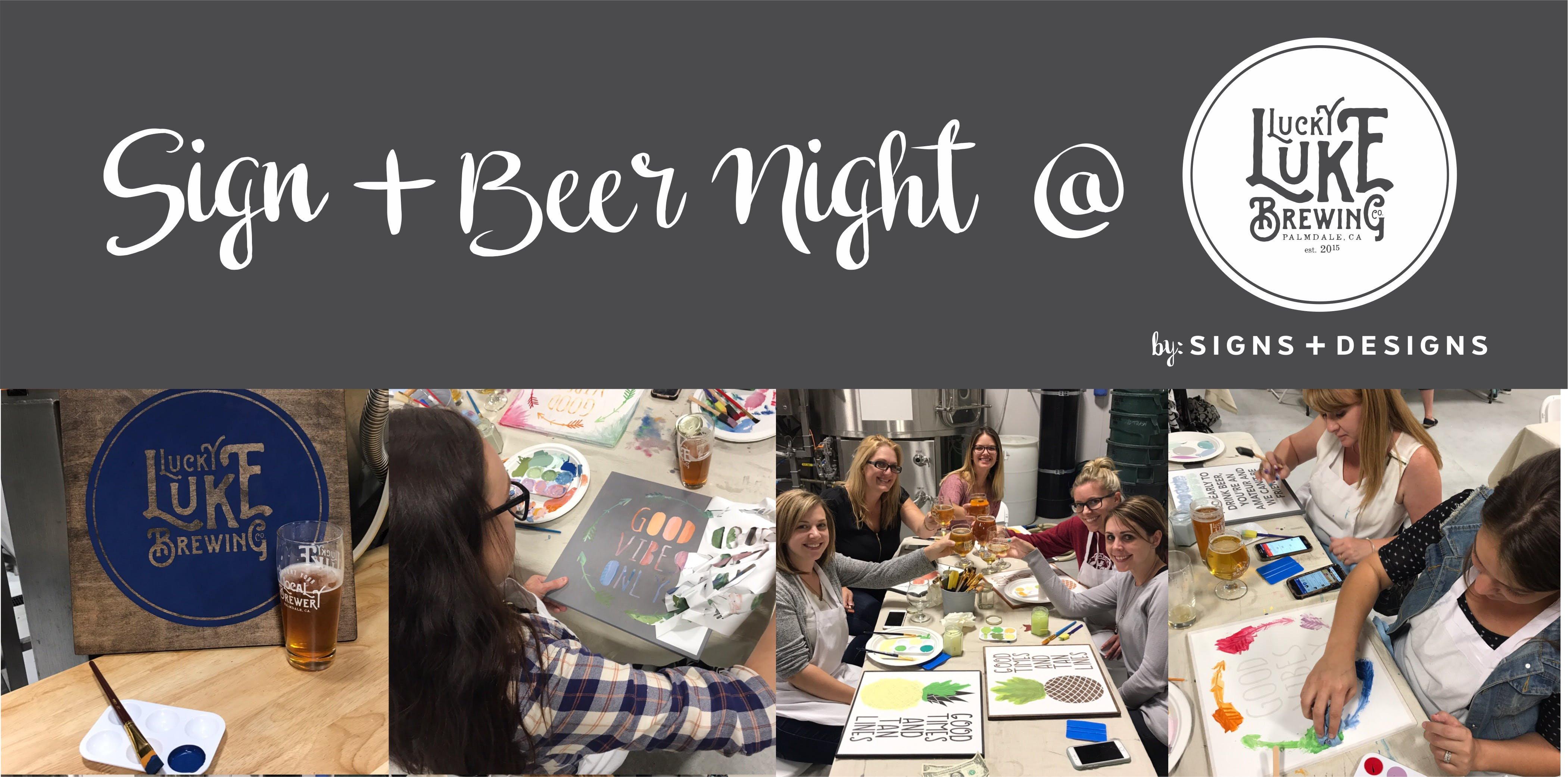 Sign + Beer Night @ Lucky Luke Brewing Co. Ma
