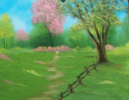 Bob Ross Oil Painting Class-Magic of Spring