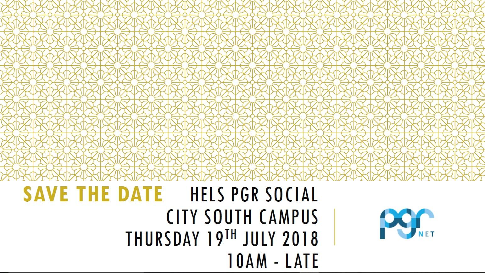HELS PGR Social, 19 July 2018