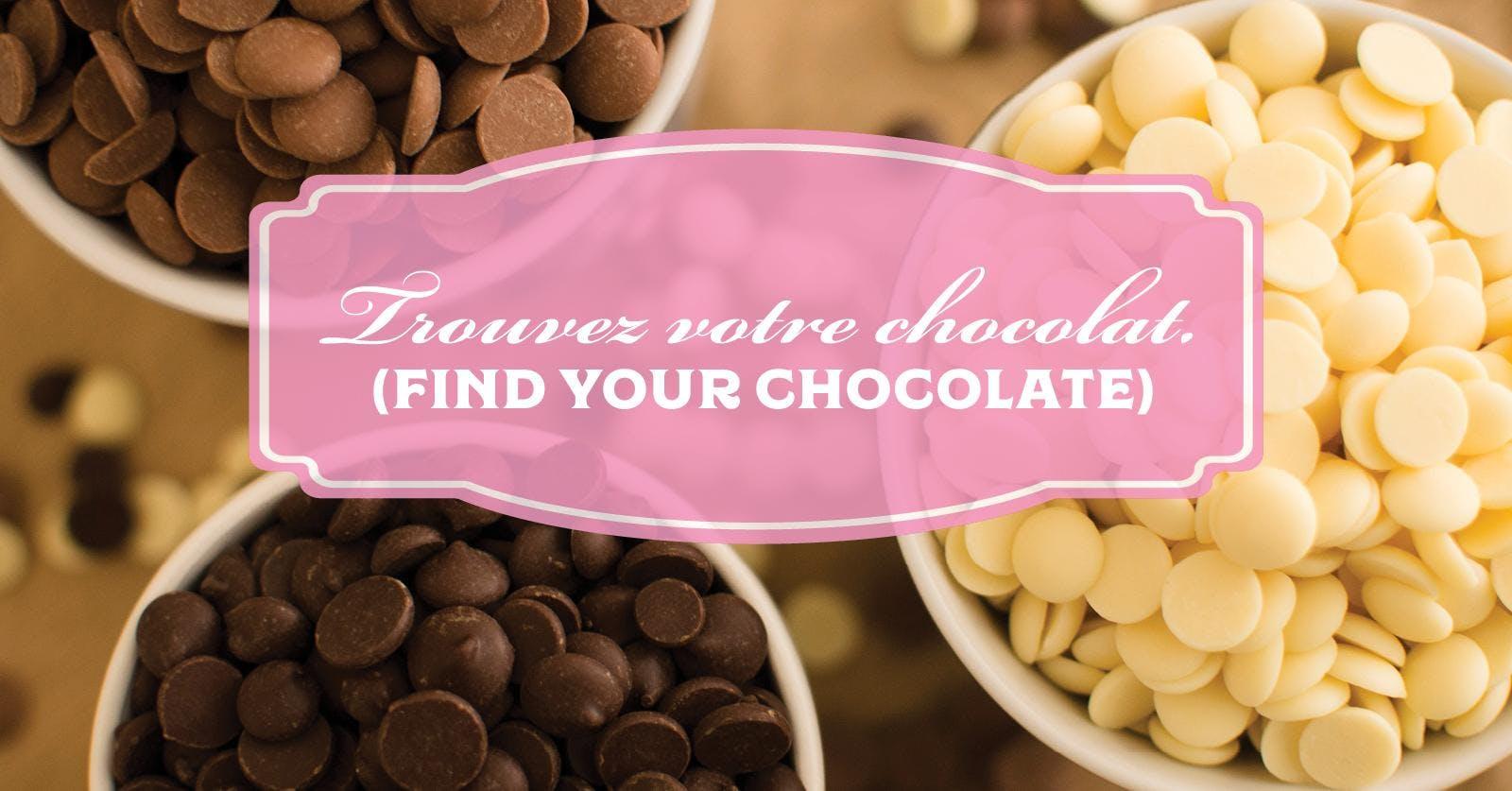Trouves votre chocolat! (Find your Chocolate)