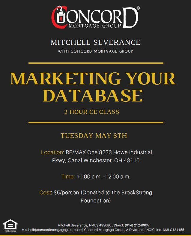 OH Real Estate 2 Hour CE Class Marketing Your Data Base
