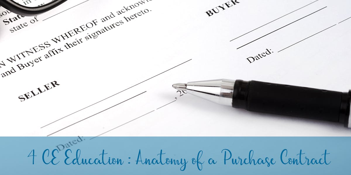 Core Elective: Anatomy of a Purchase Contract - 18 JUN 2018