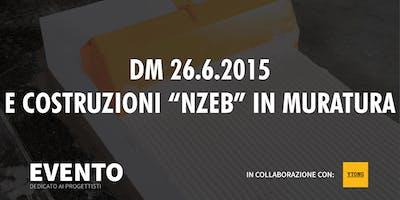 """DM 26.6.2015 e COSTRUZIONI """"NZEB"""" in MURATURA"""