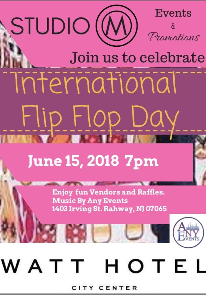 f900edf97ed International Flip Flop Day - 15 JUN 2018