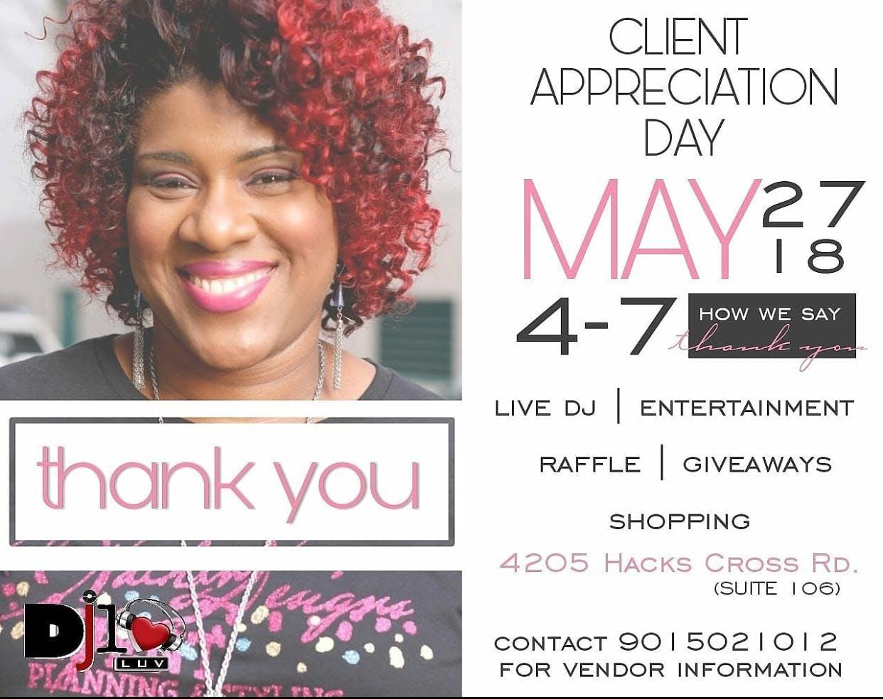 client appreciation - 27 may 2018