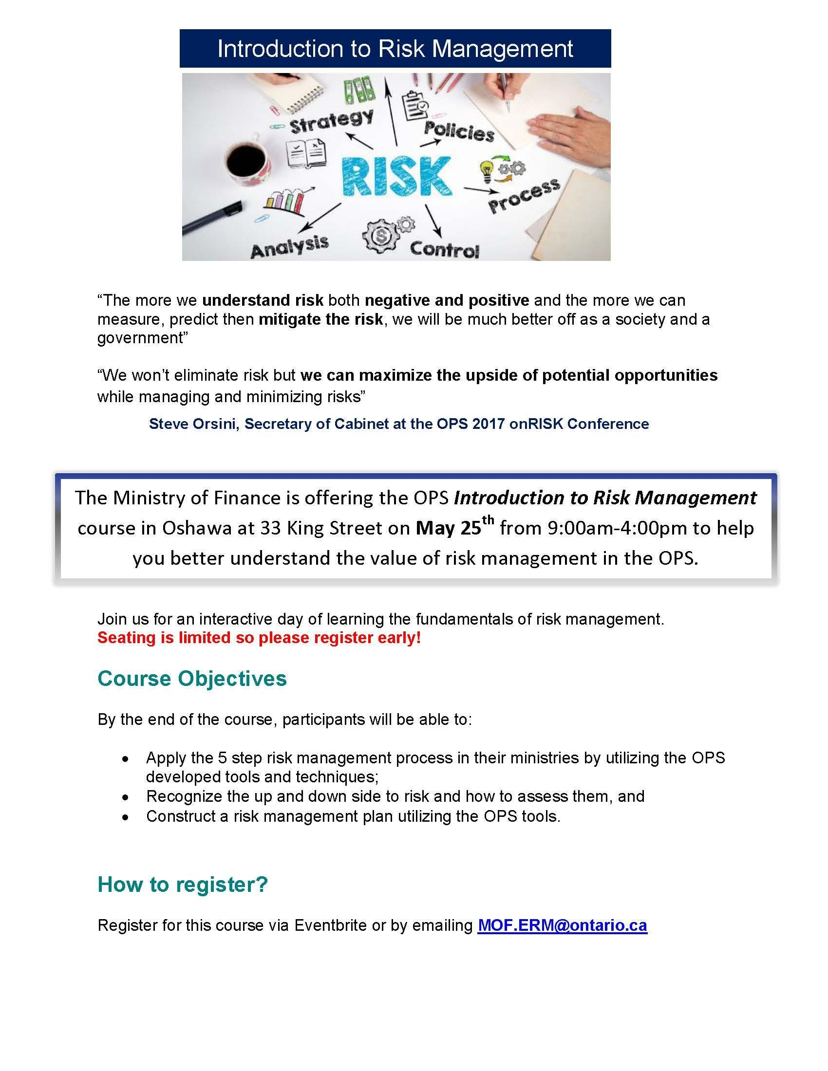 Introduction to Risk Management -June 22nd