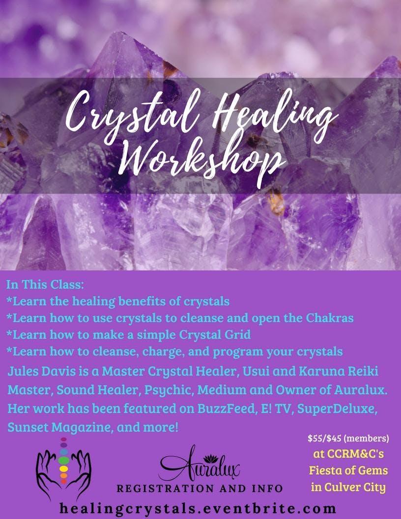 Crystal Healing Workshop at Fiesta of Gems Sh