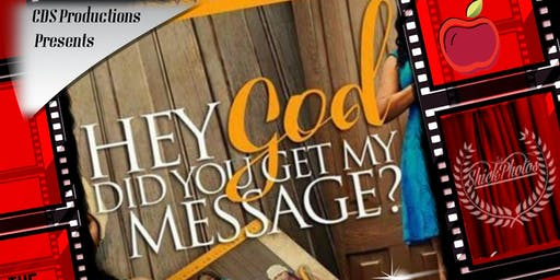 Newark nj arts events eventbrite hey god did you get my message stage play malvernweather Gallery