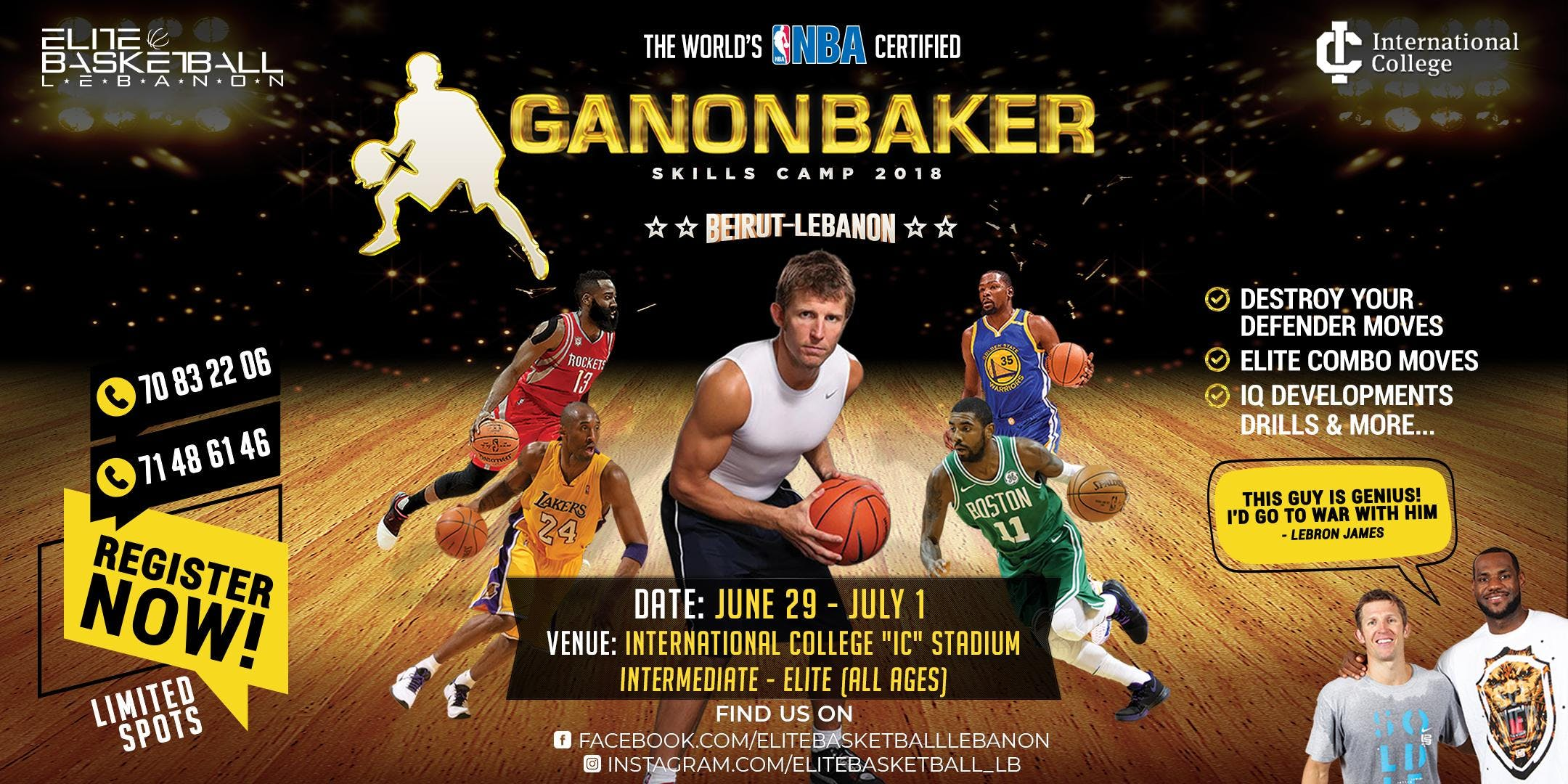 The worlds NBA GANON BAKER Skills Camp 2018  Beirut - Lebanon
