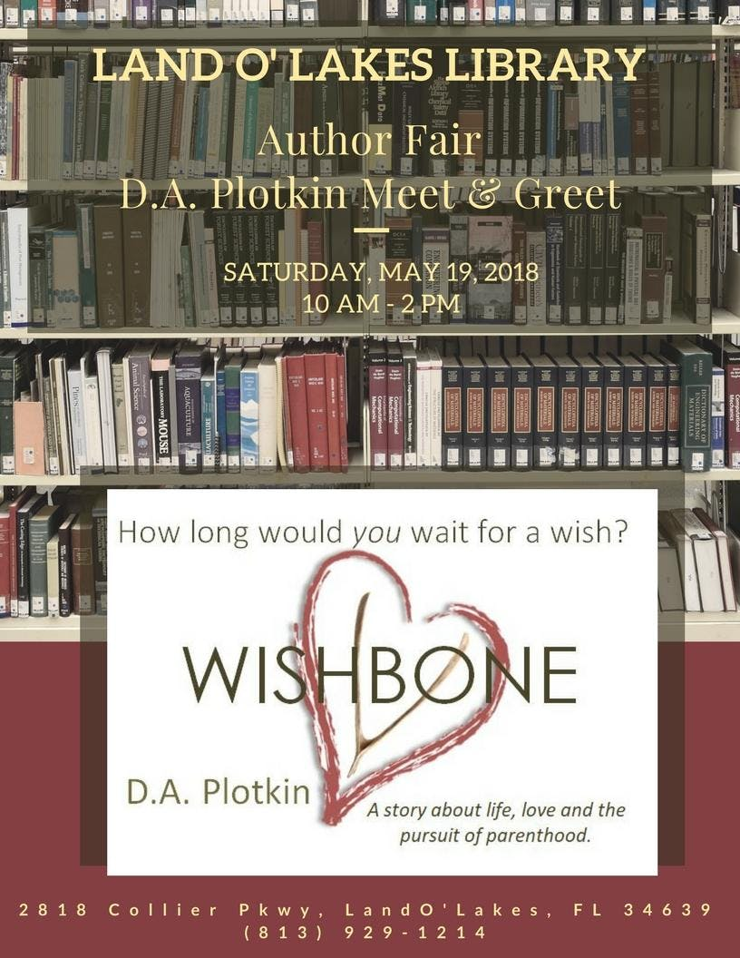 Da plotkin author meet greet at land o lakes library 19 may da plotkin author meet greet at land o lakes library m4hsunfo