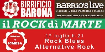 Rock dì Marte - Indako + Icmesa - ferr entry birra 3 euro