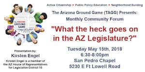 """TAGG Monthly Forum - """"What the heck goes on in the  AZ..."""