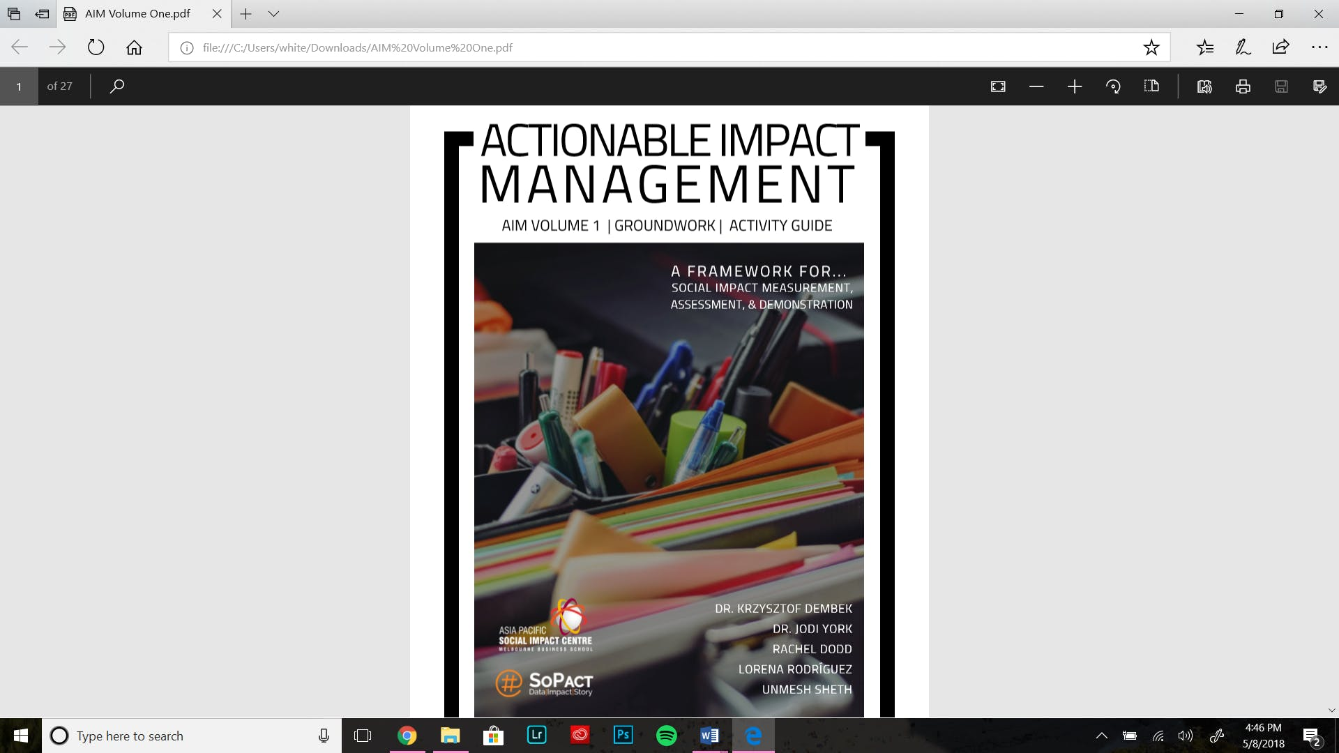 Actionable Impact Management: A New Framework