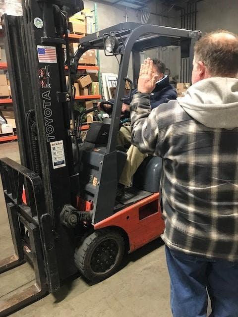 June 14th Forklift Certification Class Earlier Session 14 Jun 2018