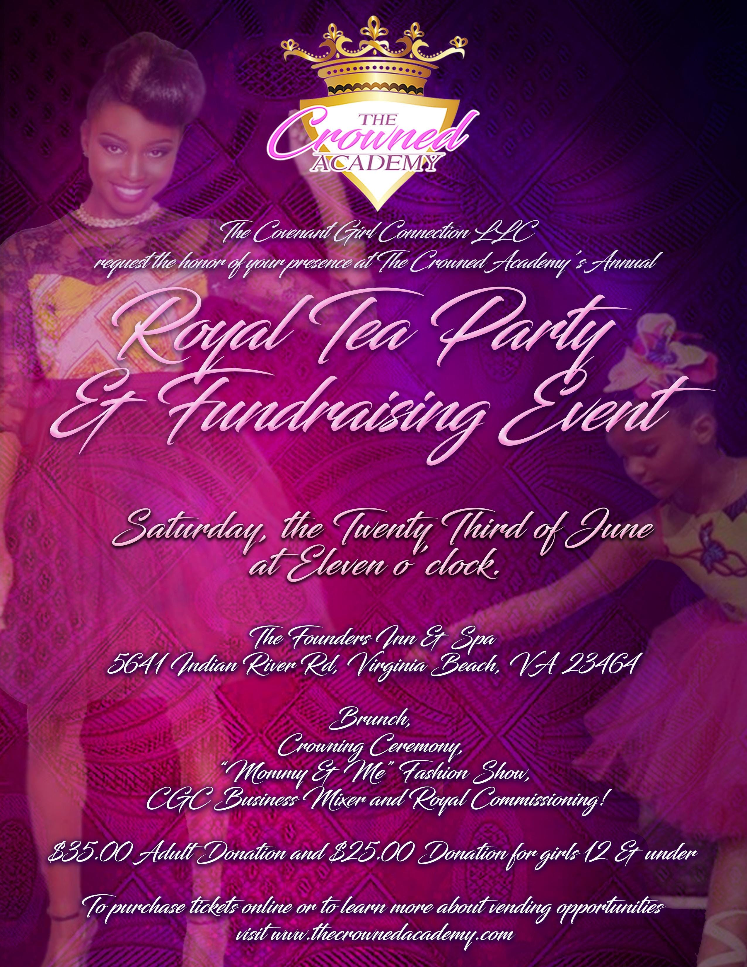 The Crowned Academy Royal Tea & Fundraising E