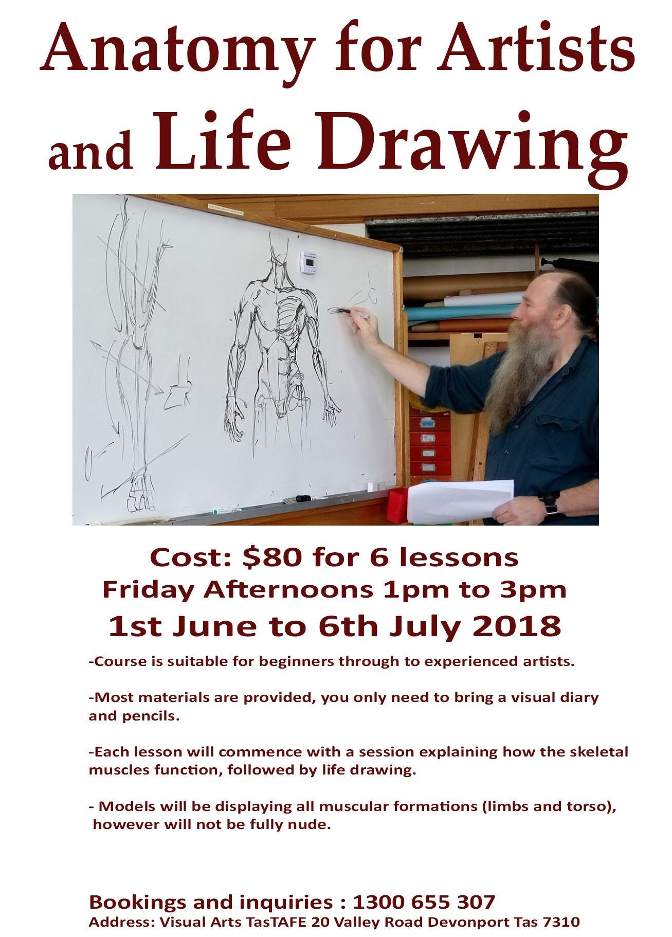 Anatomy for Artists and Life Drawing - 1 JUN 2018