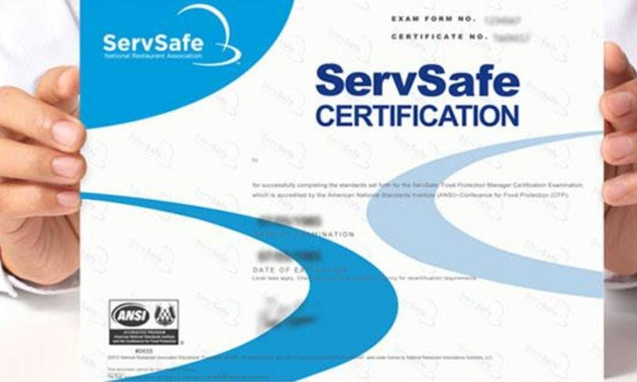 Cleveland Oh Servsafe Manager Certification Training Exam 2