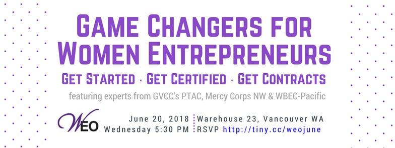 WEO June: Game Changers for Women Entrepreneu