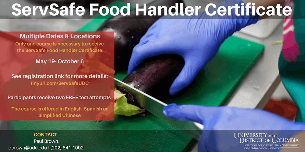 Servsafe Food Handler Certificate Tickets Multiple Dates Eventbrite