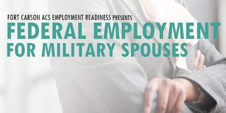 Federal Employment for Military Spouses tickets
