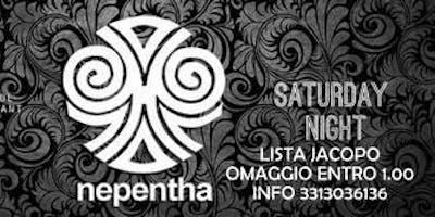 Sabato || NEPENTHA CLUB ||Piazza Diaz 1 - Milano || Lista Jacopo omaggio entro 1.30