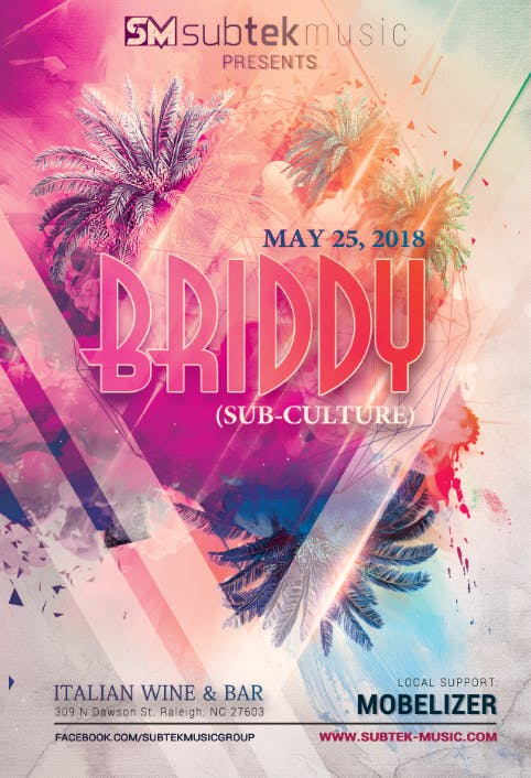 Subtek Presents Briddy Sub Culture 25 May 2018