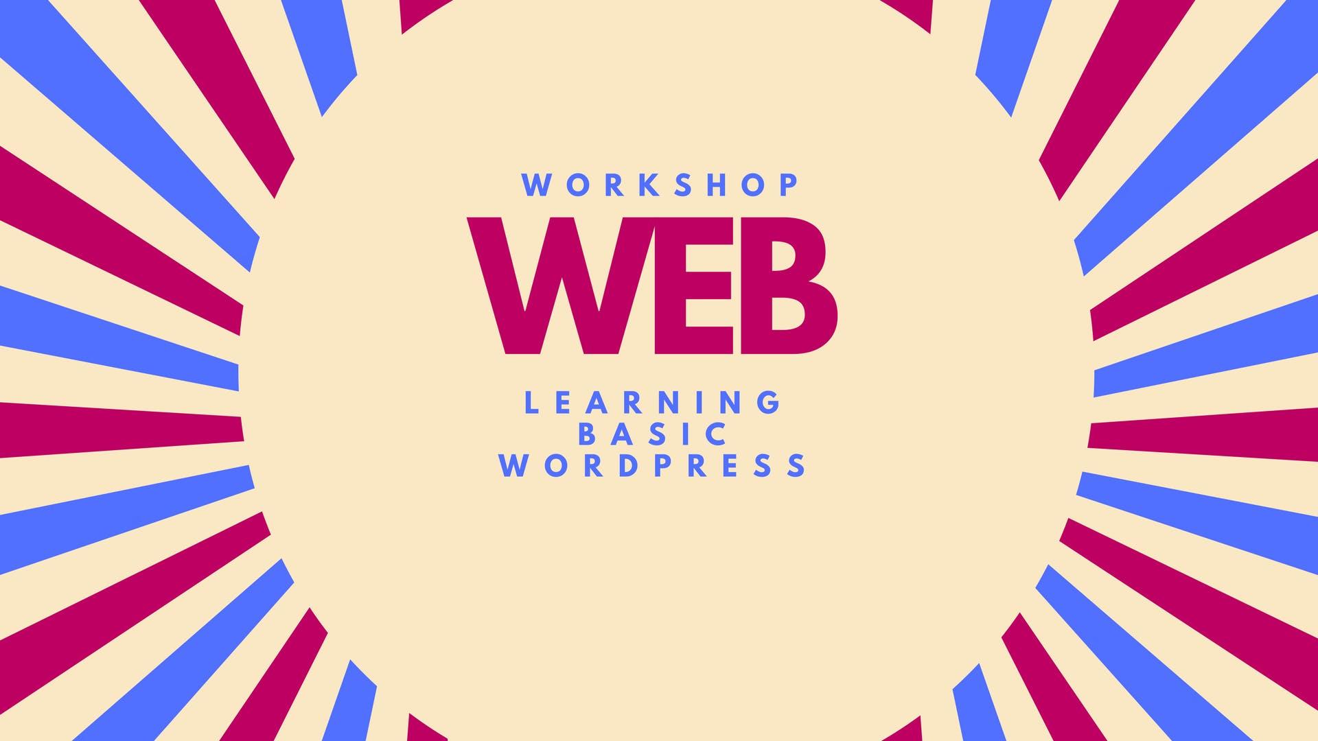 Introduction to Website building - Wordpress