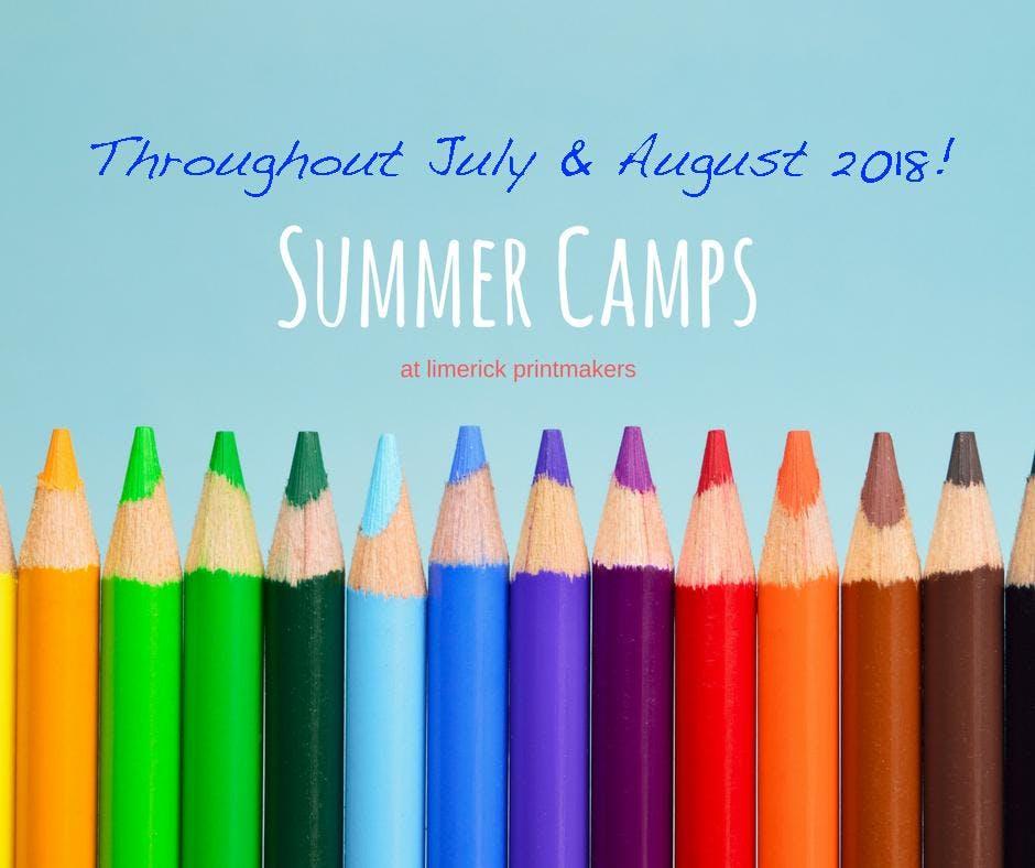 Summer Art Camp / 16th-20th July / Age 8-12 yrs / €100