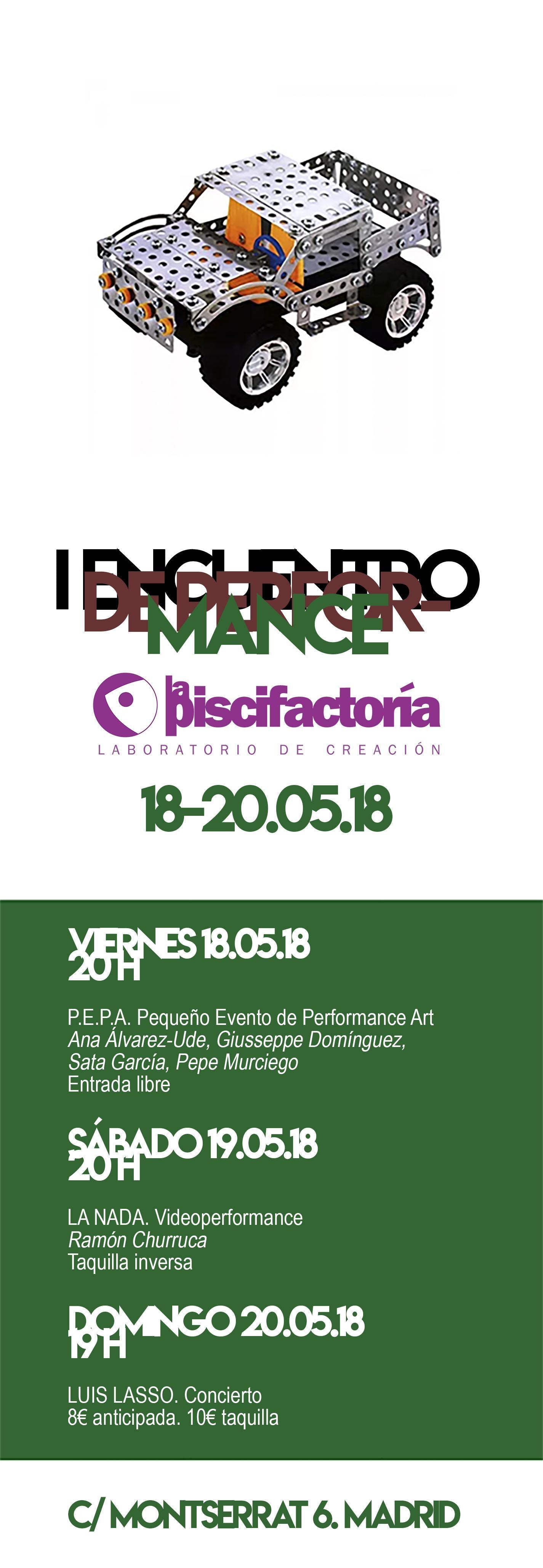 I Encuentro de Performance en La Piscifactorí