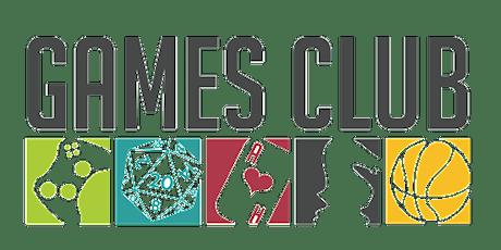 Junior Games Club tickets