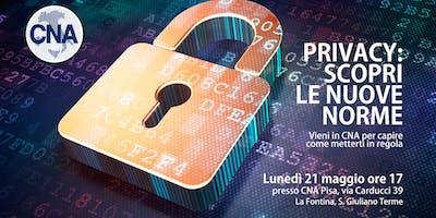 GDPR/Privacy: Seminario in CNA Pisa per scoprire come mettersi in regola