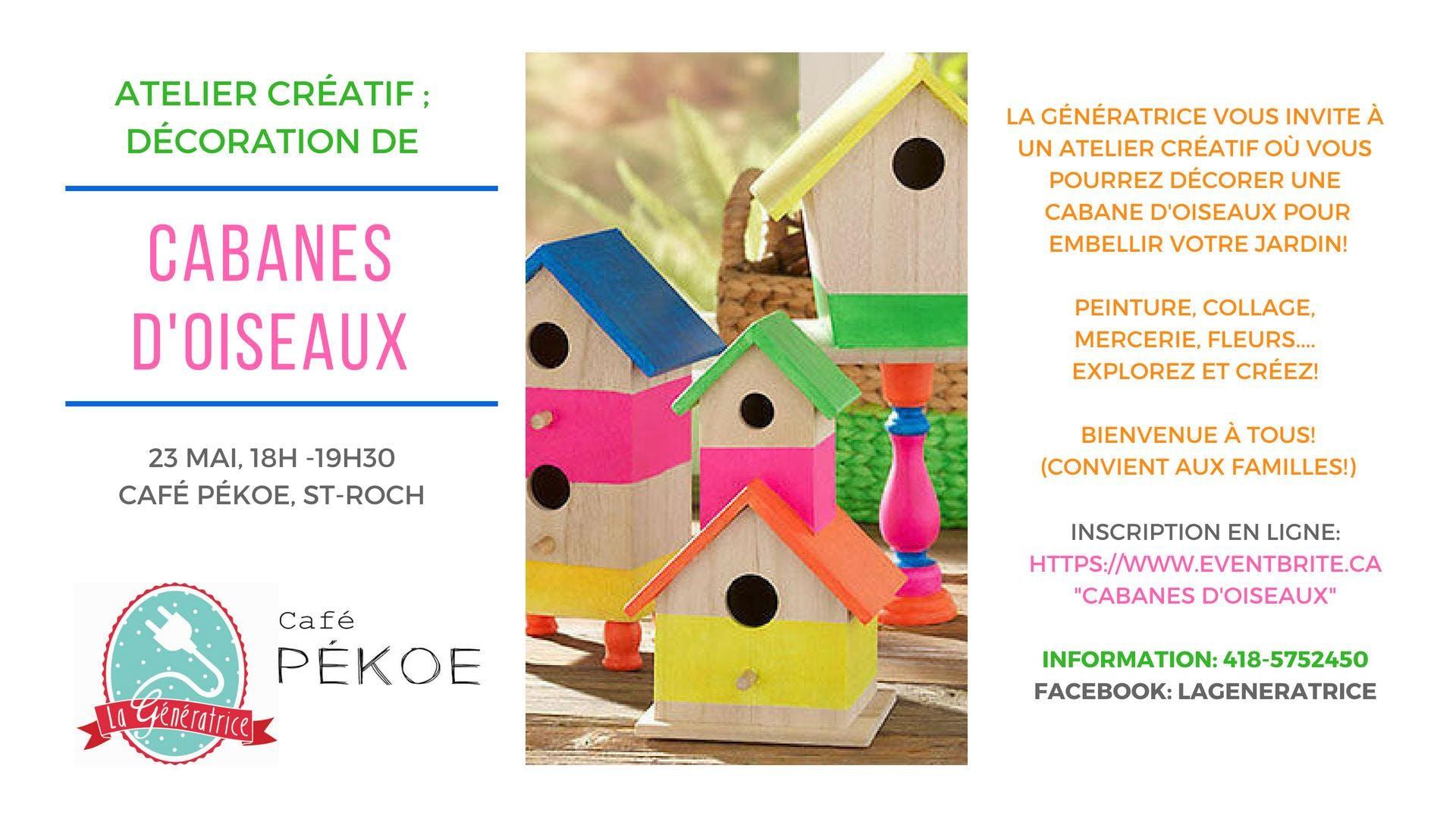 Atelier créatif : Cabanes d'oiseaux