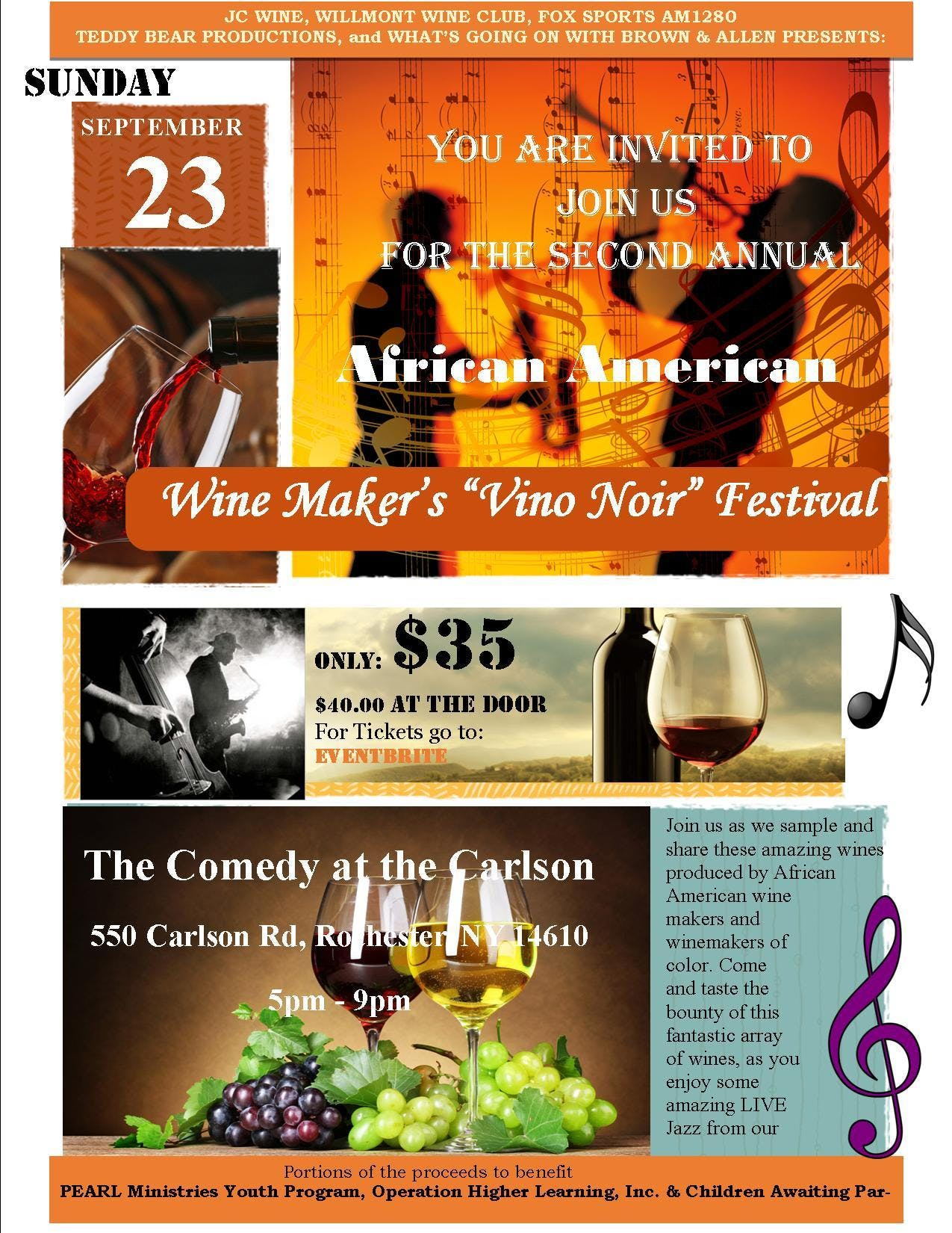"2nd Annual African American Wine Maker's ""Vin"