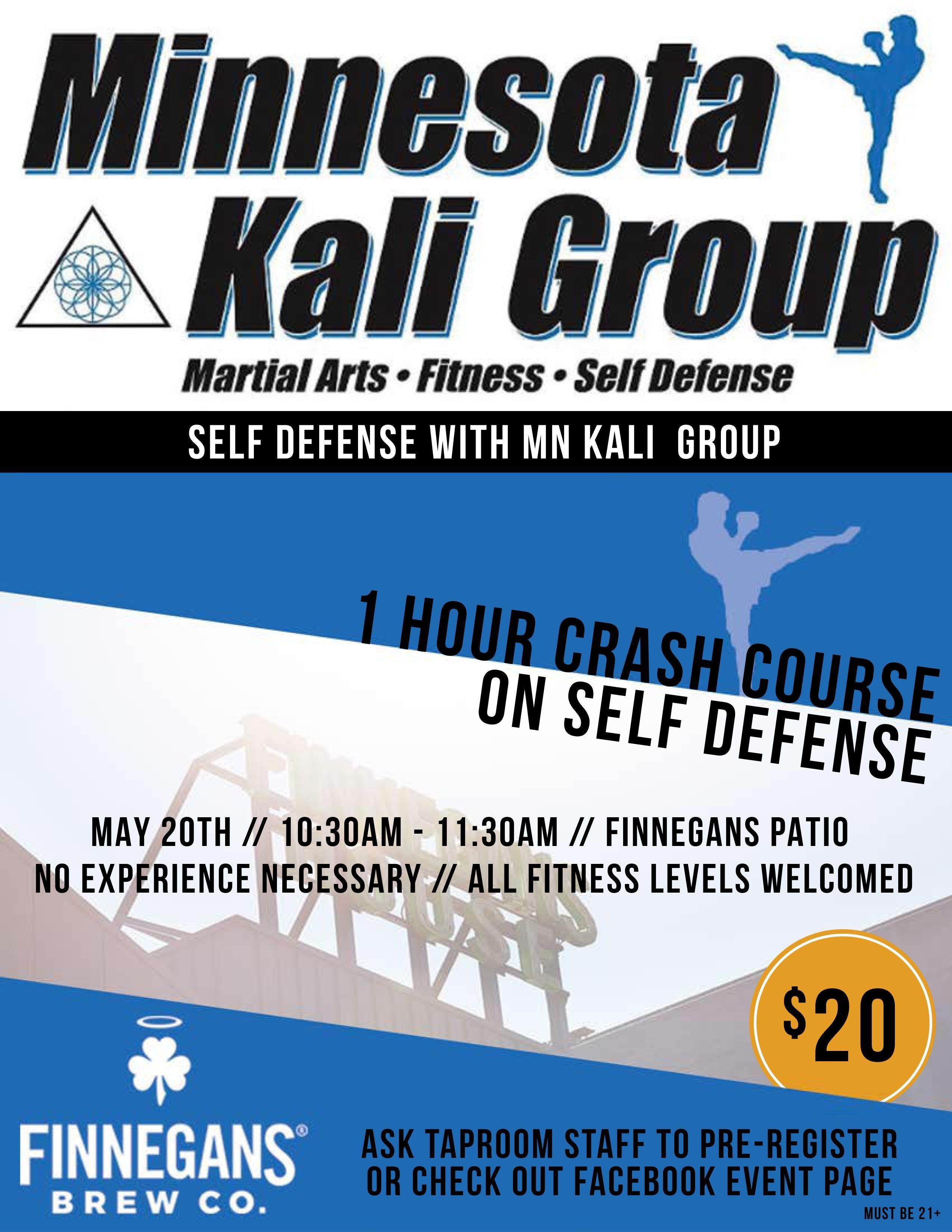 Self Defense Crash Course at FINNEGANS w/MN K
