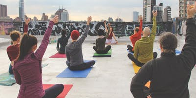 Drunk Yoga at Our Wicked Lady Rooftop