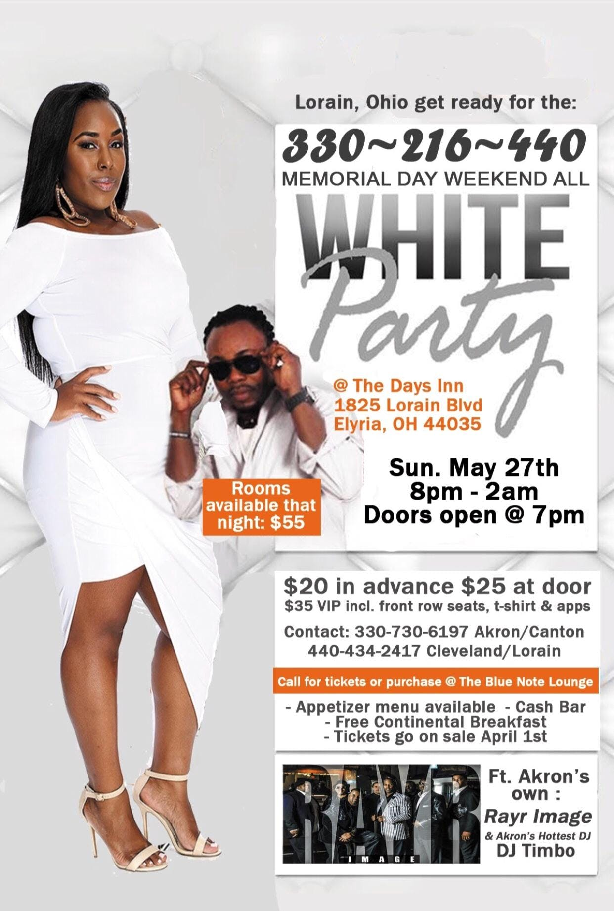 All White Party featuring Rayr Image Memorial