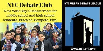NYC High School Debate Club (Sundays, 2018-2019 Debate Season)