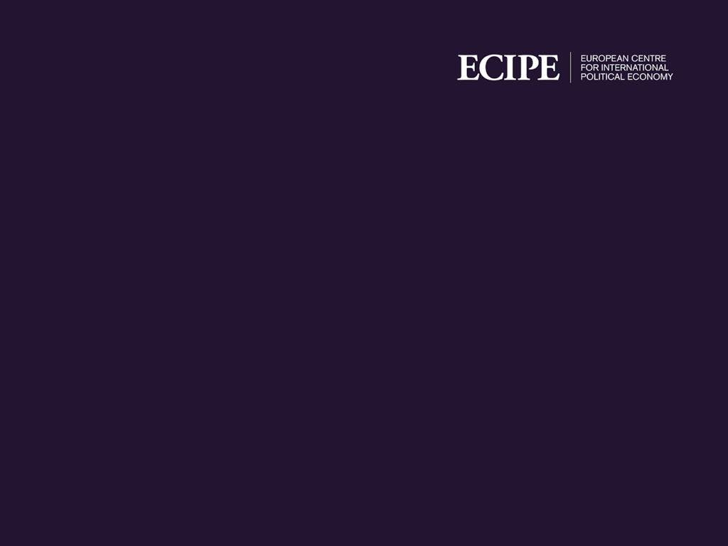 ECIPE Seminar: Trade in Uncertain Times and t