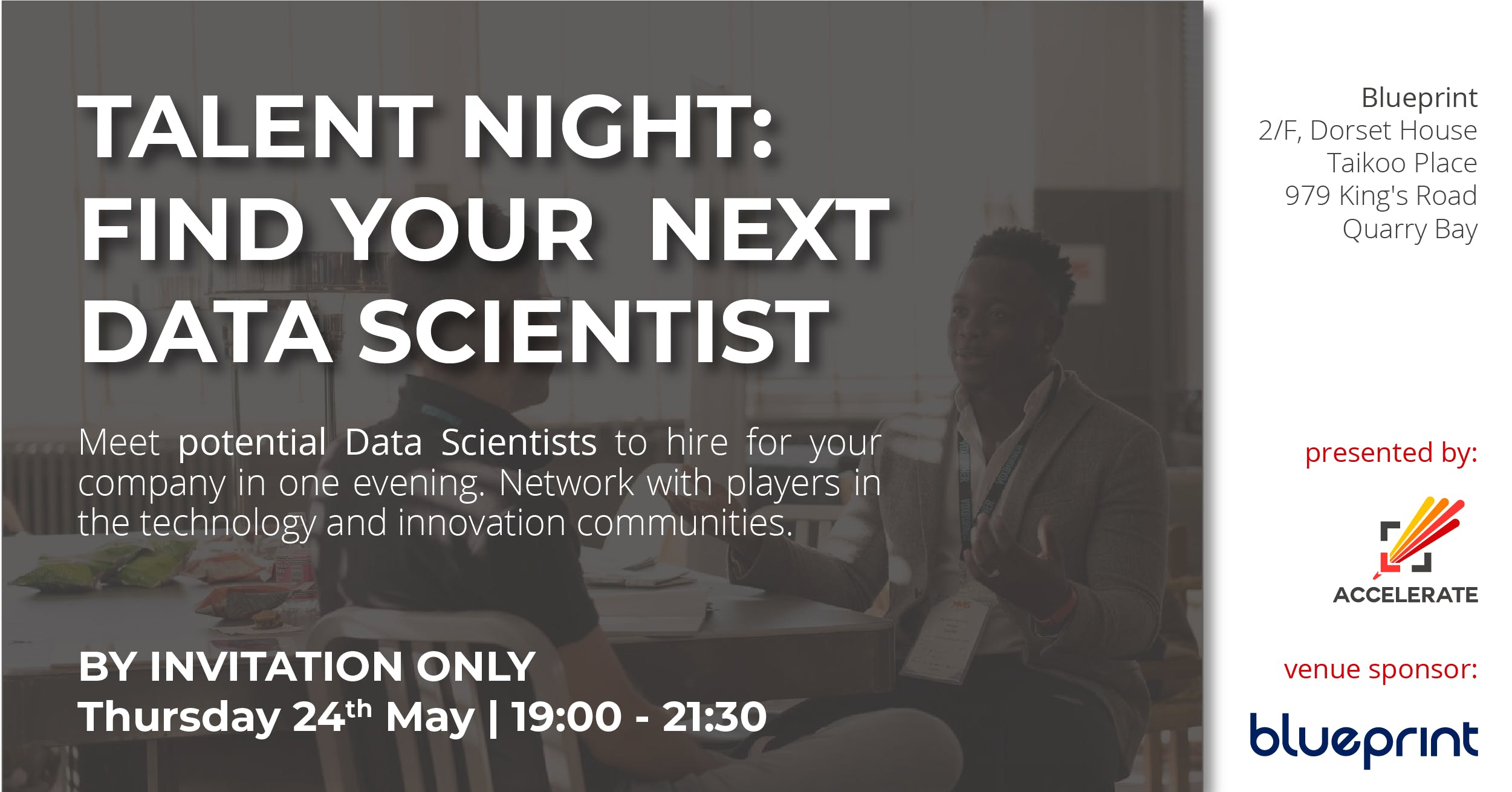 Talent night find your next data scientist 24 may 2018 talent night find your next data scientist malvernweather Gallery