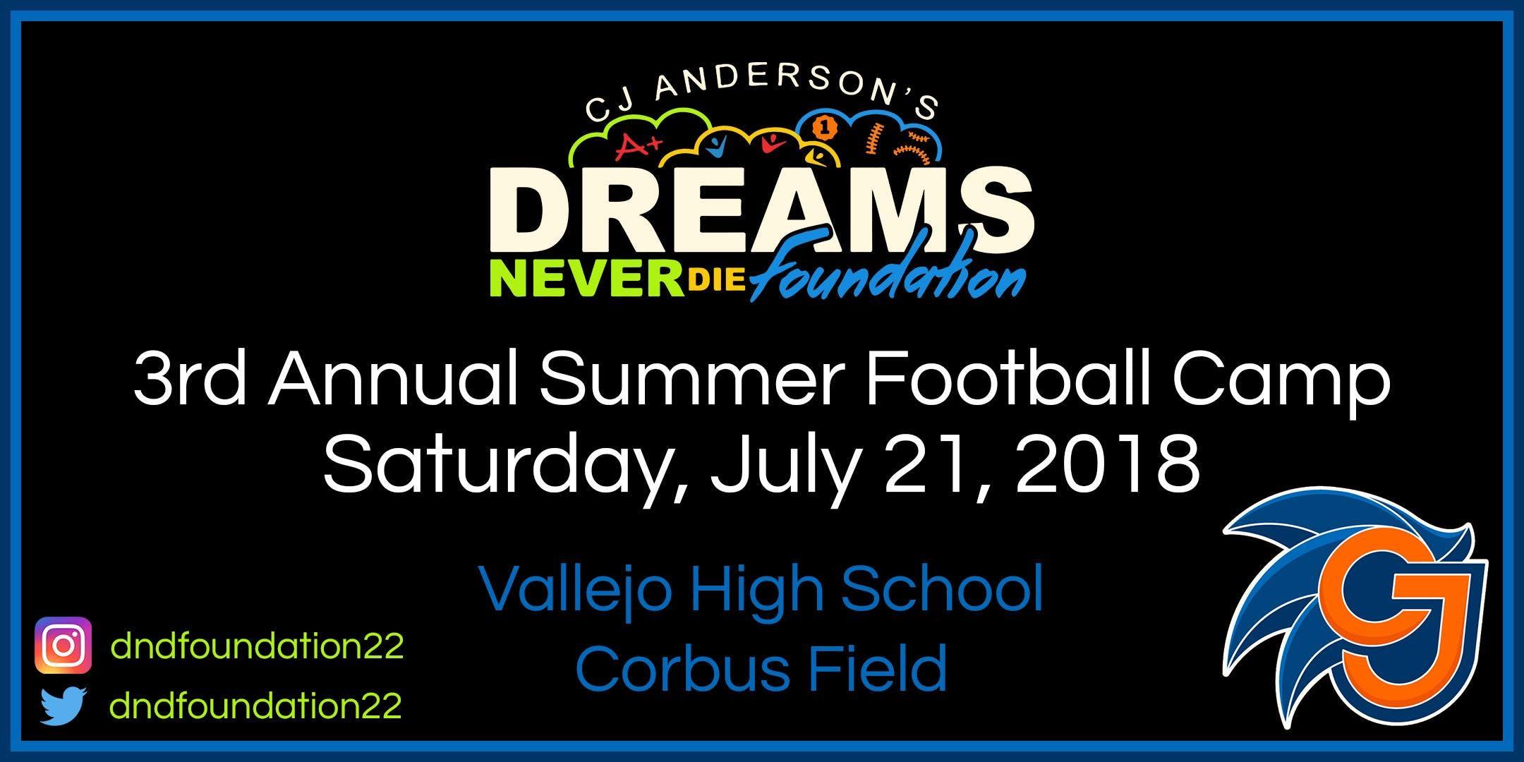 3rd Annual Summer Football Camp