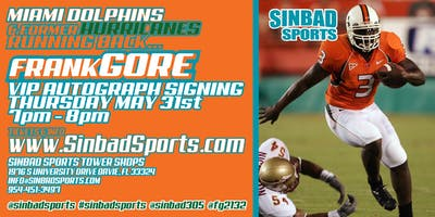 huge selection of 10da9 640e0 FRANK GORE VIP AUTOGRAPH SIGNING - Pembroke Pines - May ...
