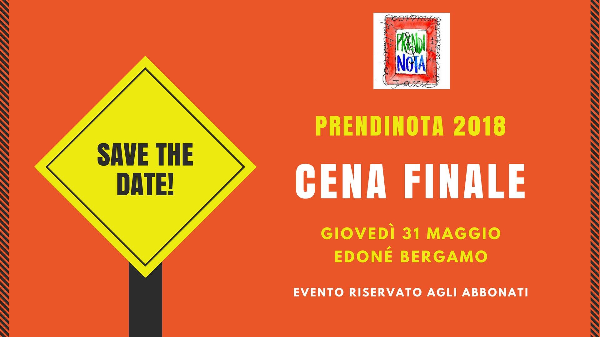 Cena finale - Prendinota 2018