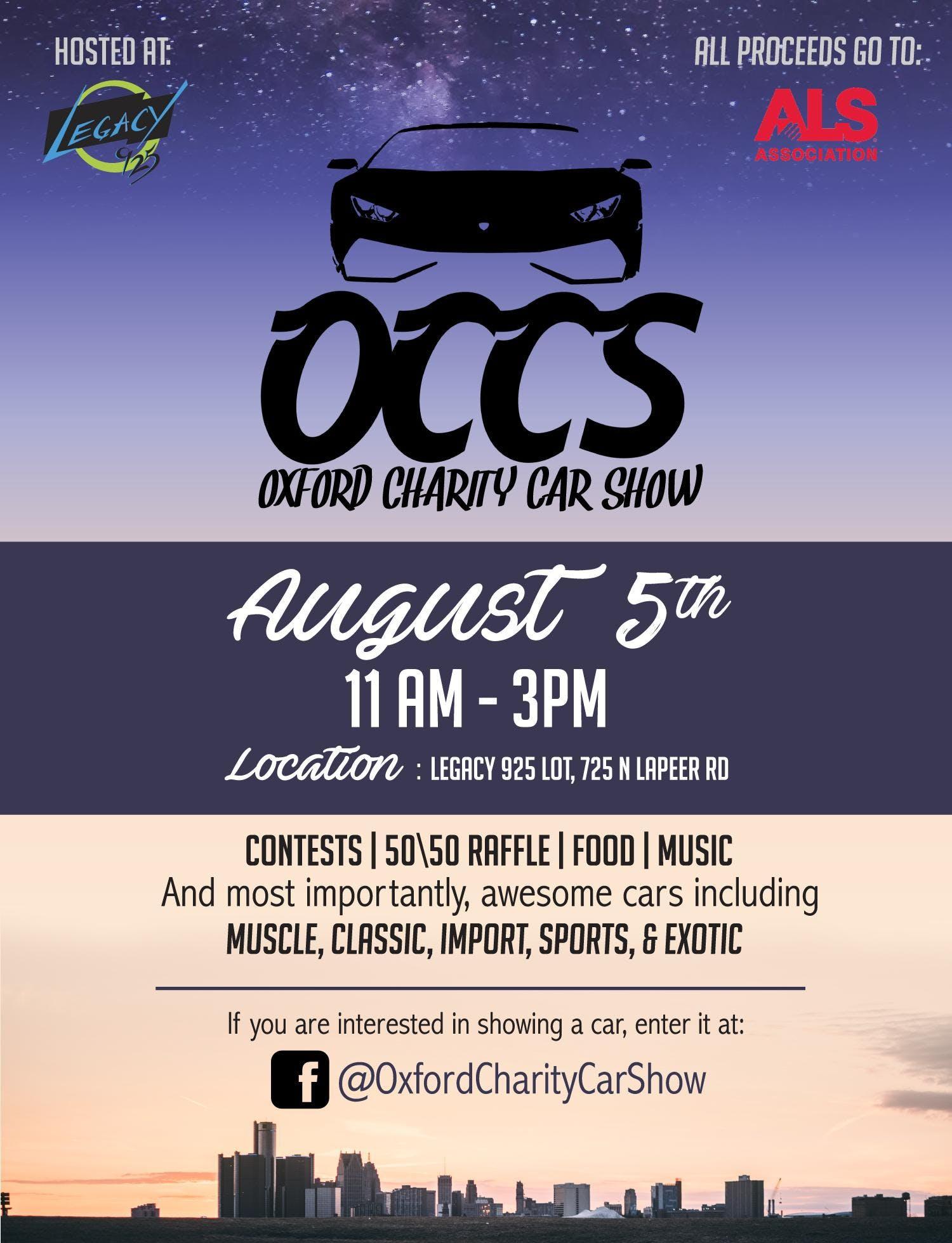 Oxford Charity Car Show AUG - Detroit car show august 2018