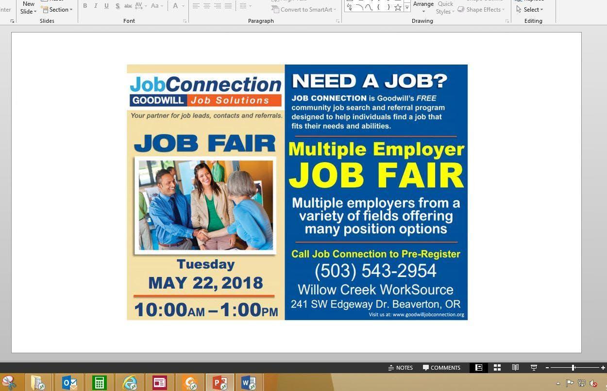 Job Fair - Beaverton - 5/22/18