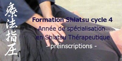 Formation : cycle 4 en Shiatsu Thérapeutique